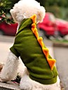 Коты / Собаки Костюмы / Толстовки / Инвентарь Зеленый Одежда для собак Зима Мультфильмы / Животный принт Свадьба / Косплей / Хэллоуин