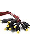 새로운 10pack 10 인치 블랙 (30cm) 2.1 X 5.5mm DC 전원 피그 남성,&빨간