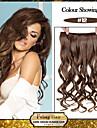 5 clips ondulado mel marrom (# 12) grampo de cabelo sintetico em extensoes de cabelo para senhoras mais cores disponiveis