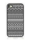 Geometric Pattern Leather Vein Pattern Hard Case for iPhone 4/4S