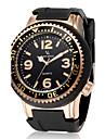 V6 Men\'s Fashion Round Case Silicone Strap Military Casual Watch
