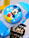 Kids' New Cartoon Flip Round Dial Small Mickey Mouse Pattern Silicone Strap Light Digital Watch (Random Color) Cool Watches Unique Watches