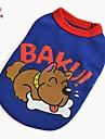 Cat / Dog Shirt / T-Shirt Red / Blue Summer Cartoon / Letter & Number Wedding / Cosplay