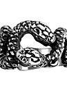 Кольцо Бижутерия Нержавеющая сталь Сталь Змея Черный Бижутерия Для вечеринок Halloween Повседневные 1шт