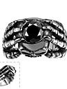 Майя классического индивидуальный уникальный удержания кубического циркония руками из нержавеющей стали человек кольца (черный) (1шт)