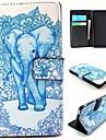 Pour Coque Sony Portefeuille / Porte Carte / Avec Support / Clapet Coque Coque Integrale Coque Elephant Dur Cuir PU pour SonySony Xperia