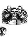 Кольца В форме черепа Halloween Повседневные Спорт Бижутерия Нержавеющая сталь Мужчины Кольцо 1шт,8 9 11 Серебряный