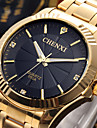 CHENXI® Golden Fashion Men Watch Stainless Steel Quartz Wrist Watch Cool Watch Unique Watch