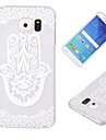 For Samsung Galaxy Case Transparent Case Back Cover Case Lace Printing PC Samsung S6 edge / S6 / S5 Mini / S5