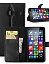용 노키아 케이스 지갑 / 카드 홀더 / 스탠드 케이스 풀 바디 케이스 단색 하드 인조 가죽 NokiaNokia Lumia 730 / Nokia Lumia 640 / Nokia Lumia 640 XL / Nokia Lumia 540 / 노키아
