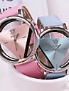 여성 패션 가죽 석영 손목 시계