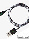 MFI Certified Carve Lightning Cable 4ft (1.2M) 8 pin to USB SYNC Nylon Cable for Apple iPhone 7 6s Plus iPad