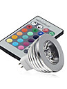 3W GU5.3(MR16) Luci LED da palcoscenico MR16 1 LED ad alta intesita 250 lm Colori primariIntensita regolabile / Controllo a distanza /