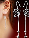 Earring Drop Earrings / Ear Cuffs Jewelry Women Daily / Casual / Sports Pearl / Sterling Silver 2pcs Silver
