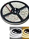 JIAWEN® 5 M 300 5050 SMD Теплый белый / белый Водонепроницаемая 60 W Гибкие светодиодные ленты DC12 V