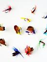 12 штук Мухи / Рыболовная приманка Мухи Ассорти из цветов 1 г/<1/18 Унция mm дюймовый,Металл Ловля нахлыстом