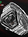 WEIDE® Mens Irregular Watch Analog Digital LED Display Waterproof Stainless Steel Band Luxury Sport Wristwatch Wrist Watch Cool Watch Unique Watch