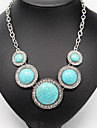 Necklace Statement Necklaces / Vintage Necklaces / Pendants Jewelry Wedding / Party / Daily / Casual Alloy / Turquoise Silver 1pc Gift