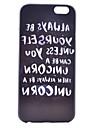 Для Кейс для iPhone 6 / Кейс для iPhone 6 Plus С узором Кейс для Задняя крышка Кейс для Слова / выражения Твердый PCiPhone 6s Plus/6 Plus