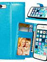 Для Кейс для iPhone 5 Бумажник для карт / Кошелек / со стендом / Флип Кейс для Чехол Кейс для Один цвет Твердый Искусственная кожаiPhone