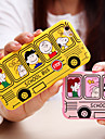 Heart Camera Design Cartoon Bus Pattern Acrylic Soft Case for iPhone 6s 6 Plus