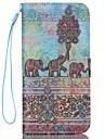 iphone 7 mais elefante padrão caso seção de corda carteira mão de alta qualidade de telefone para iPhone 6 / 6s