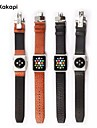 Watch Band With Connector for Apple Watch 38MM 42mm Butterfly Buckle Leather Bracelet