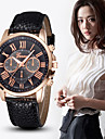 Watches Women Rose Gold Case Luxury Brand Rome Style Leather Straps Fashion Casual Quartz Watch Cool Watches Unique Watches