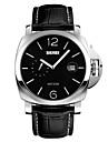 SKMEI® Men\'s Fashion Big Dial Leather Strap Quartz Watch Cool Watch Unique Watch