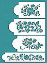 Valentine\'s Gift Flowers Cake Decorating Cake Design Stencils,ST-228