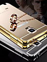 갤럭시 노트 4 / 주 5 (모듬 색상)에 대한 금속 프레임 전화 케이스 다시 거울을 도금