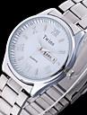 Муж. Наручные часы Кварцевый Календарь Защита от влаги Нержавеющая сталь Группа Серебристый металл