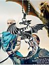 Homme Femme Pendentif de collier Dragon Alliage Argent Bijoux Pour Quotidien Decontracte 1pc
