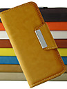 For iPhone 5 Case Wallet / with Stand / Flip Case Full Body Case Solid Color Hard PU Leather iPhone SE/5s/5