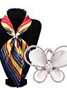 мода декор алмаз опал бабочка шарф пряжки