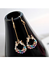 Earring Stud Earrings / Drop Earrings Jewelry Women Party / Daily / Casual Crystal / Alloy 2pcs