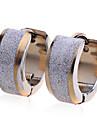 Серьги-гвоздики Нержавеющая сталь Позолота Мода Золотой Бижутерия Для вечеринок Повседневные 2 шт.
