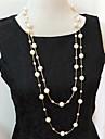 여성 물가 목걸이 계층화 된 목걸이 진주 목걸이 펄 모조 진주 멀티 레이어 의상 보석 보석류 제품 결혼식 파티 일상 캐쥬얼