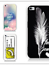 For Etui iPhone 5 Moenster Etui Bakdeksel Etui Tegneserie Hard PC iPhone SE/5s/5