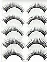 New 5 Pairs Super Natural Black Long Thick False Eyelashes Eyelash Eye Lashes for Eye Extensions