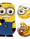 Pessoas amarelas 3d caso de telefone de silicone macio para iphone 5 / 5s