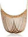 Fashion Multi-Row Chain Pendant Alloy Necklace