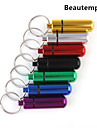 Small Metal Medicine Bottle and Container with Keychain(7 Color to Choose