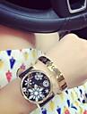 Mulheres Relogio de Moda Quartzo Cronografo PU Banda Preta Azul Prata Verde Dourada