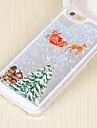 Pour Coque iPhone 5 Liquide Motif Coque Coque Arriere Coque Noel Dur Polycarbonate pour iPhone SE/5s/5