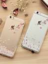 For iPhone 7 Plus Girl Cherry Tree Pattern TPU Soft Case for iPhone 6s 6 Plus