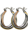 스터드 귀걸이 링 귀걸이 클래식 티타늄 스틸 스크린 컬러 보석류 용 2pcs