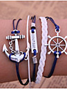 Unisex Multilayer Leather Bracelet Courage & Anchor