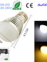 YouOKLight® 1PCS E27 3W 6*SMD5730 260LM White/ Warm White Light LED Energy saving High quality Globe Bulbs (AC100~240V)