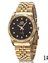 Men\'s High Fashion Diamond Scale Quartz Strip Golden Hand Wrist Watch Cool Watch Unique Watch